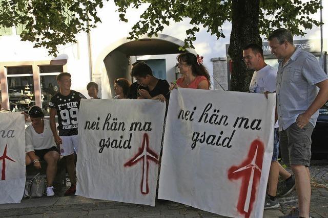 """Lautstarker Protest gegen den Teilflächennutzungsplan """"Windkraft"""" hat nichts genutzt"""