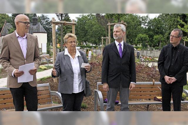 Neu angelegte Bestattungsgärten