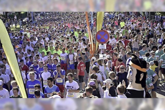 6000 Läuferinnen und Läufer beim B2Run