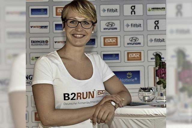 Magdalena Neuner gab den Startschuss für den B2Run-Lauf