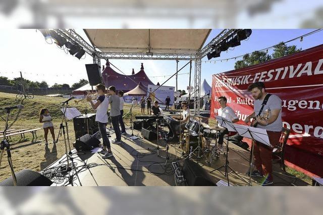 Die ZMF-Actionbühne ist ein Schaufenster für regionale Bands
