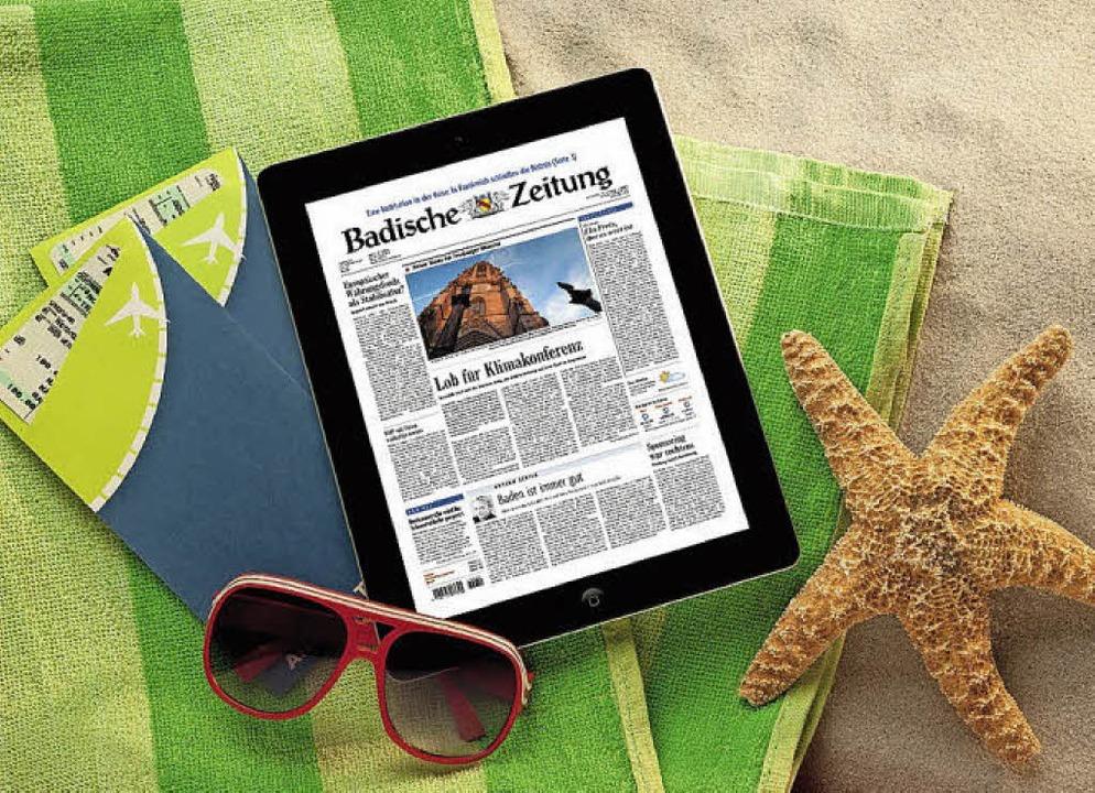 Auch im Urlaub tagesaktuell informiert: mit BZ Digital Premium  | Foto: BZ
