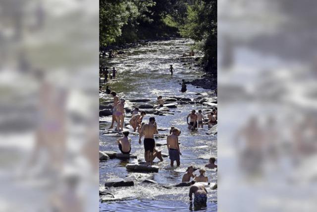 Alles im Fluss bei 34,2 Grad