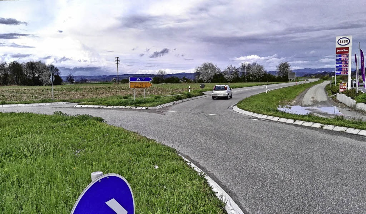Neue Gewerbefläche entlang der L 113 o...18. September entscheiden die Bürger.   | Foto: M. Wendel