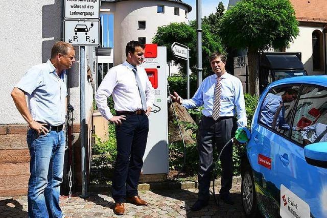 Erste Tankstelle für Elektrofahrzeuge in Friesenheim