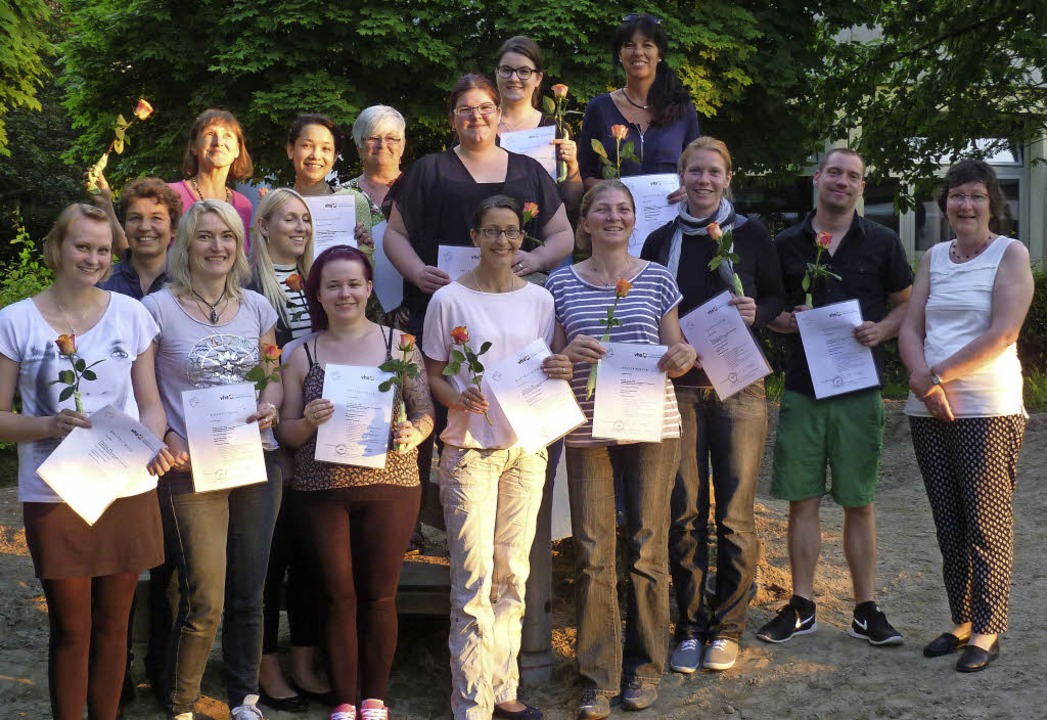Die Absolventen des Basiskurses für Tageseltern   | Foto: ZVG