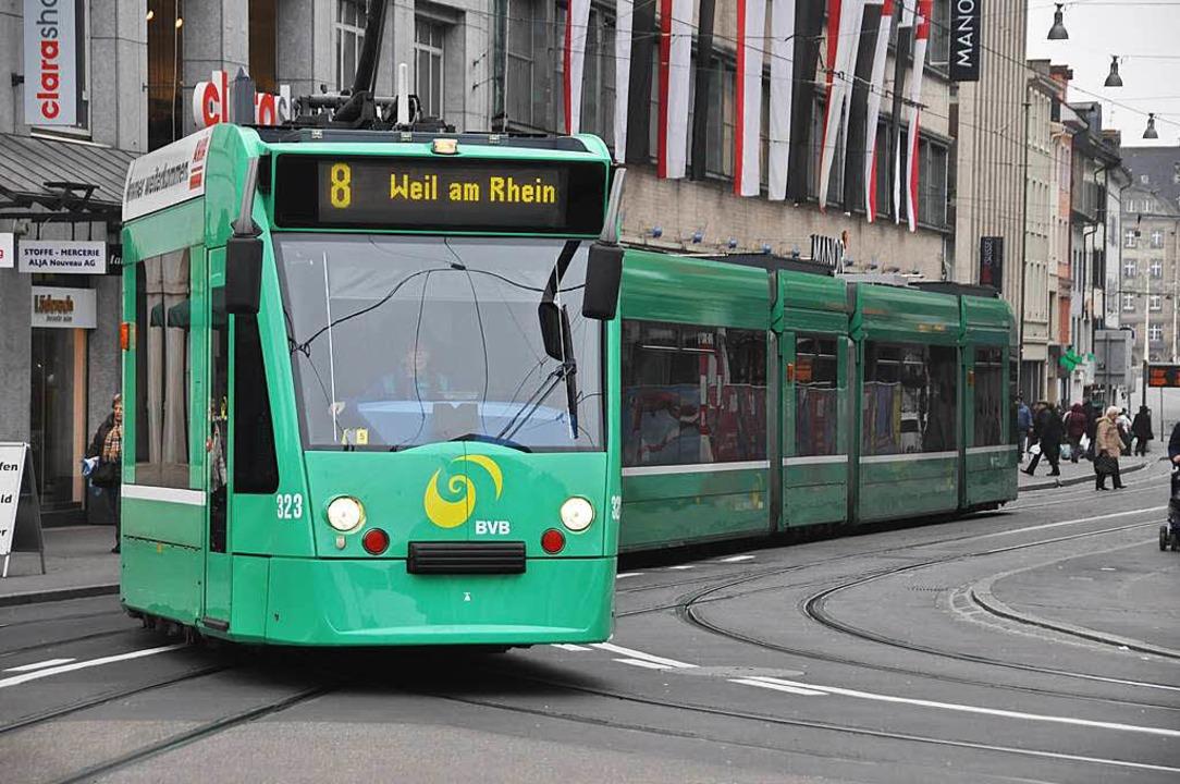 Die nach Weil am Rhein verlängerte Tramlinie  übertrifft alle Erwartungen    Foto: Daniel Gramespacher