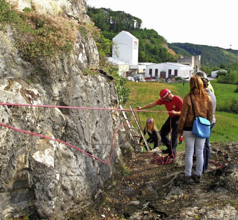 Die Pflege der freigelegten Jaspisberg...ilfe von Leiter und Bergwacht Istein.     Foto: Archivfoto: Schütz