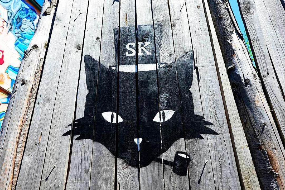 Der Eingang von Schmitz Katze in der Haslacherstraße in Freiburg.  | Foto: Ingo Schneider