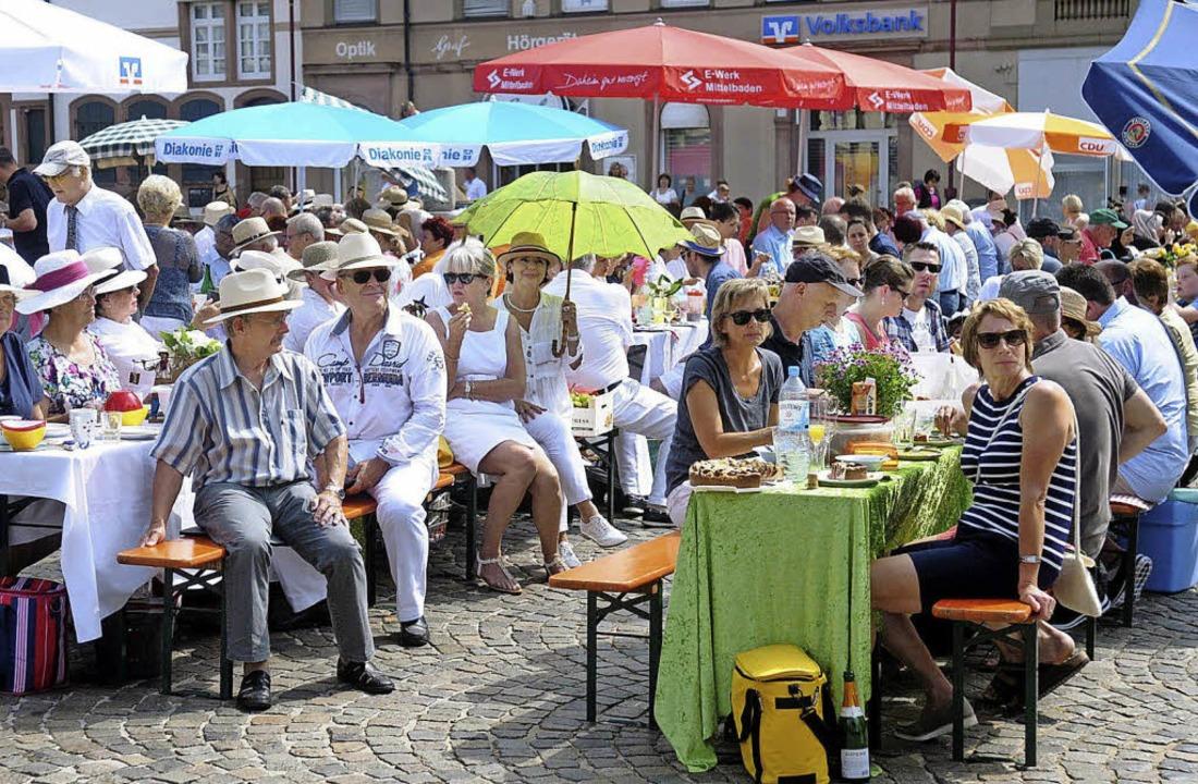 Sonnenschutz war gefragt beim Bürgerbrunch.   | Foto: Wolfgang Künstle