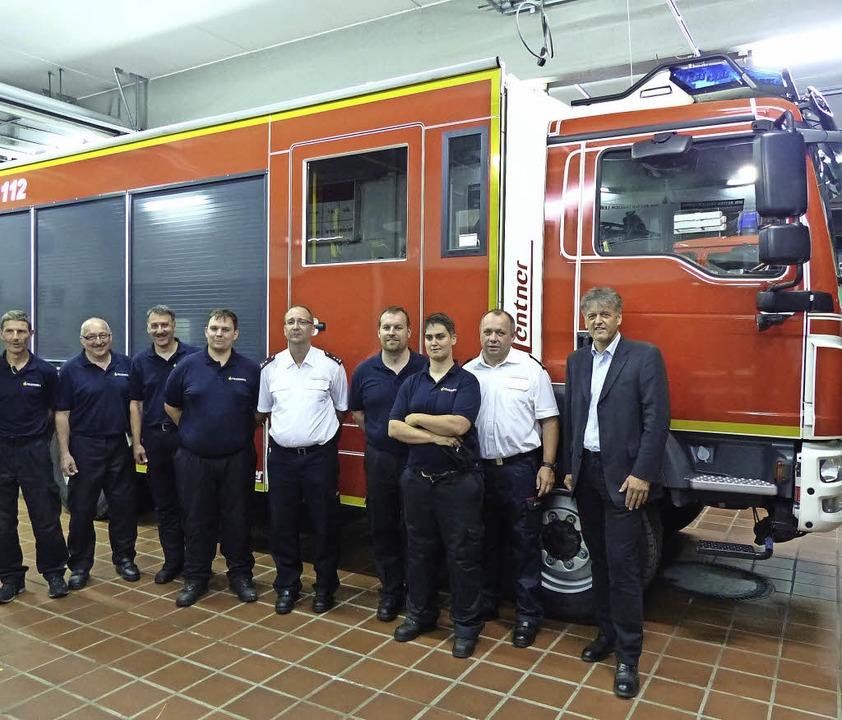 Schnell wie die Feuerwehr: Nur sechs W...ann und Bürgermeister Gunther Braun.    | Foto: Hege