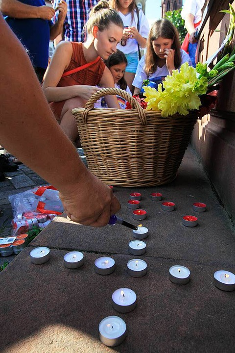 Gedenkminute für die Opfer des Amoklaufs in München  | Foto: Patrik Müller