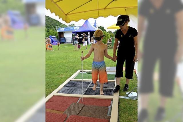 Bein inklusiven Sportfest im Strandbad konnten Teilnehmer ganz neue Erfahrungen machen