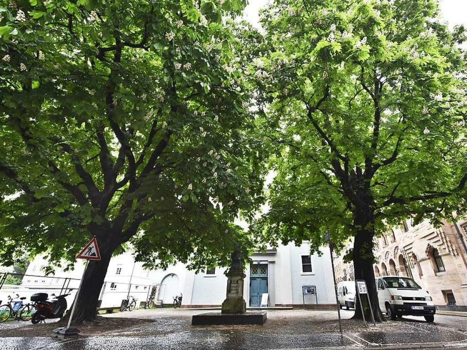 Der Platz vor der Konviktskirche ist s...220; nur selten so leer.  (Archivbild)    Foto: Michael Bamberger