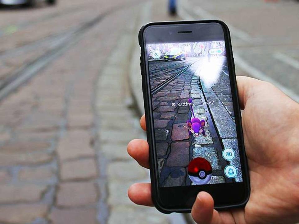 Rattfratz gibt's überall: hinter...ünster sind bessere Pokémon zu fangen.    Foto: Daniel Laufer