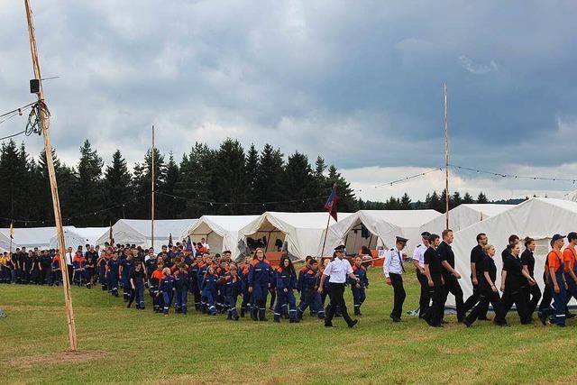 Fast 700 Teilnehmer beim Zeltlager der Kreisjugendfeuerwehr