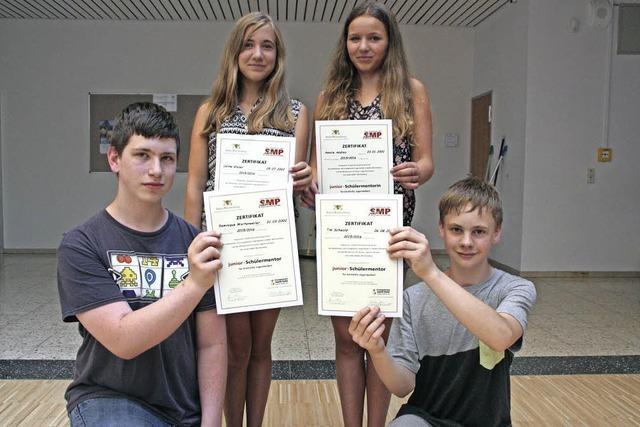 Schüler erhalten Auszeichnung für ihr Engagement