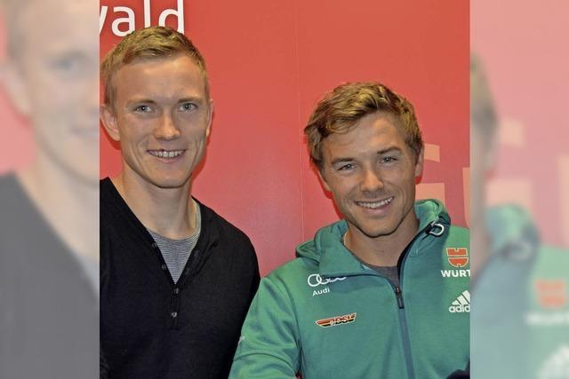 Biathlet Benedikt Doll und Kombinierer Fabian Rießle sind Weltklasse-Sportler und daheim ganz unaufgeregte Kerle von nebenan