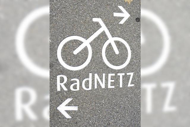 Neues Signet auf Radwegen