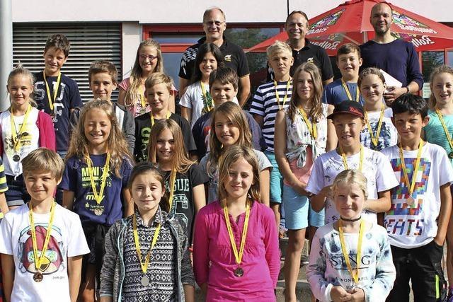 Medaillen für junge Pedalritter
