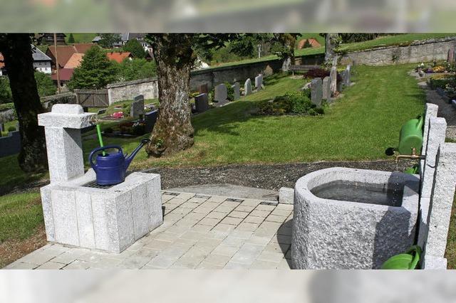 Friedhofsbrunnen ist fertig gestellt