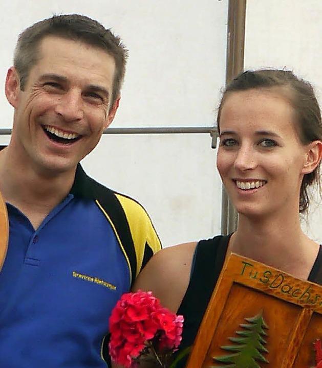 Die beiden Bergwettkampf-Sieger: Res O...en und Monja Stich vom TuS Dachsberg.   | Foto: Linda Nier/Privat