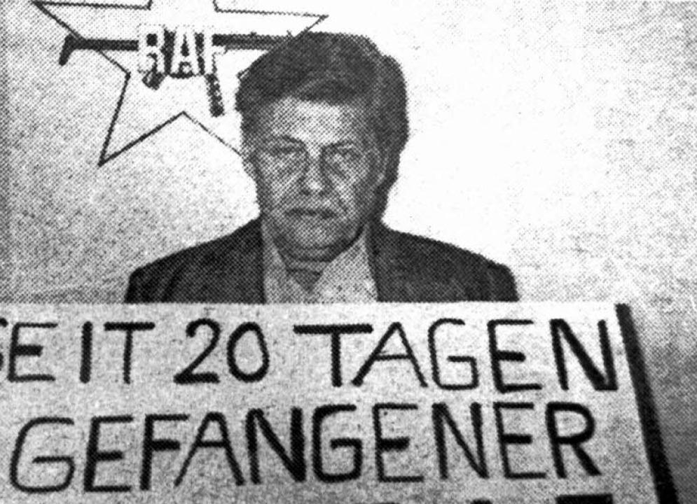 Entführter Schleyer    Foto: dpa