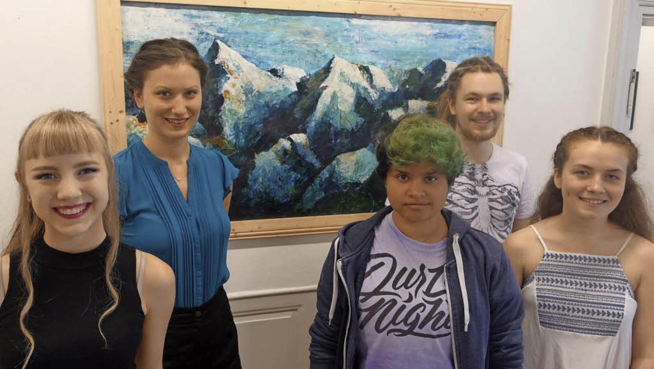 Junge Kunst im Haus Salmegg: Joséphine... links) in der Ausstellung Kunststoff   | Foto: Roswitha Frey