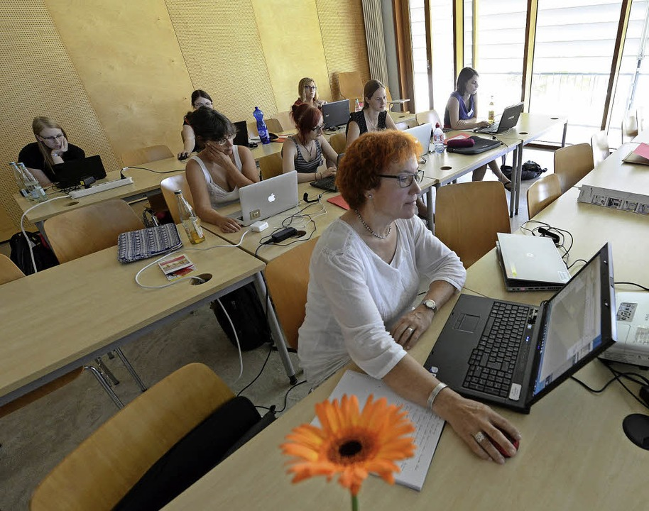 Konzentration am Rechner   | Foto: Rita Eggstein