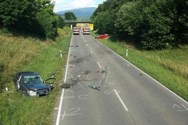 Schwerer Unfall auf L 120 bei Bad Krozingen