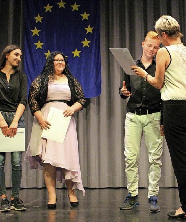 Bürgermeisterstellverteterin  Doris Re...Wenzel und Jannis Hercher (von links).    Foto: Privat