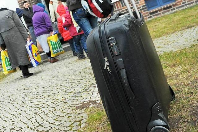 Brennender Koffer: Polizeieinsatz vor Erstaufnahmeeinrichtung
