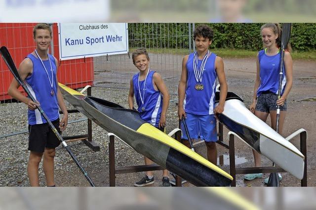 Erfolgreiche Meisterschaften für Wehrer Kanuten