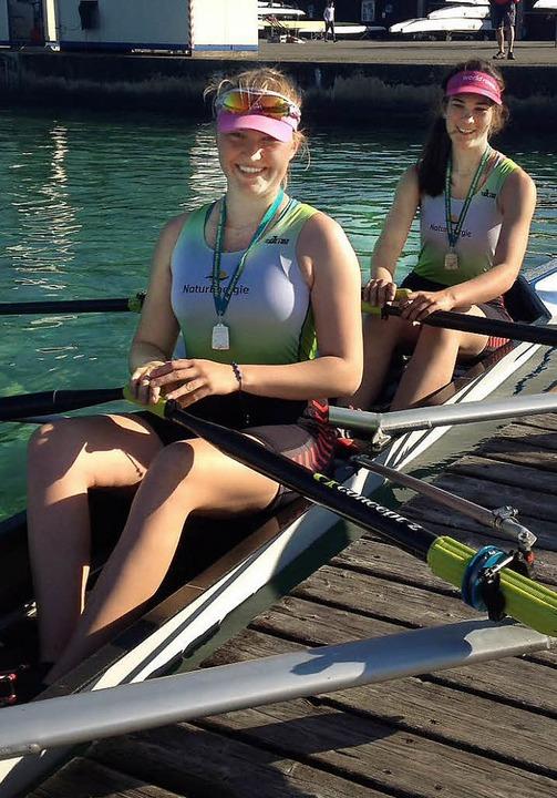 Vizemeisterinnen: Malin Grether (vorne) und Luisa Gathmann  | Foto: ZVG