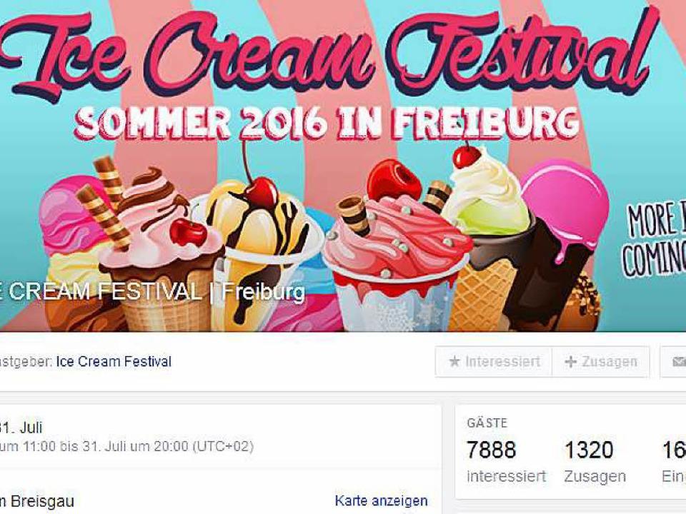 So wird die Facebook-Veranstaltung beworben (Screenshot vom 29. Juli 2016).  | Foto: bz