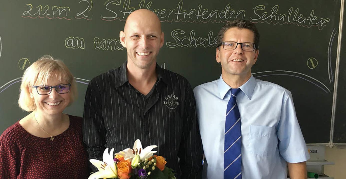Das Leitungstrio der Hugo-Höfler-Reals...Rupp und Schulleiter  Christoph Wolk.   | Foto: Thomas Brodkorb