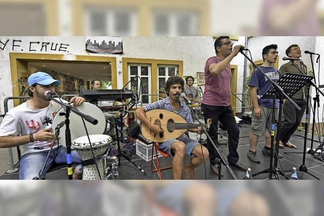 Syrische Musiker beim Grether Hoffest