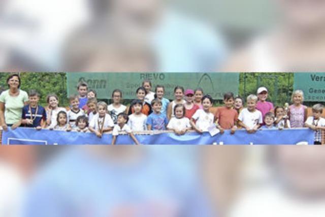 Tennis total bei kleiner Olympiade