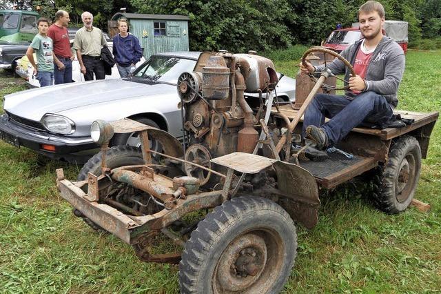 Traktor vom Schupphof ist Hingucker unter Oldtimern