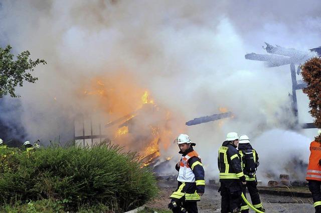 Kehl-Bodersweier: Reithalle niedergebrannt