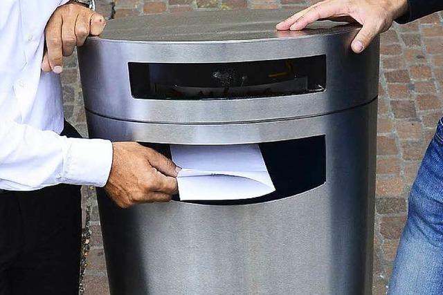 Abfallhaie für 140.000 Euro: Freiburg bekommt 90 neue Mülleimer