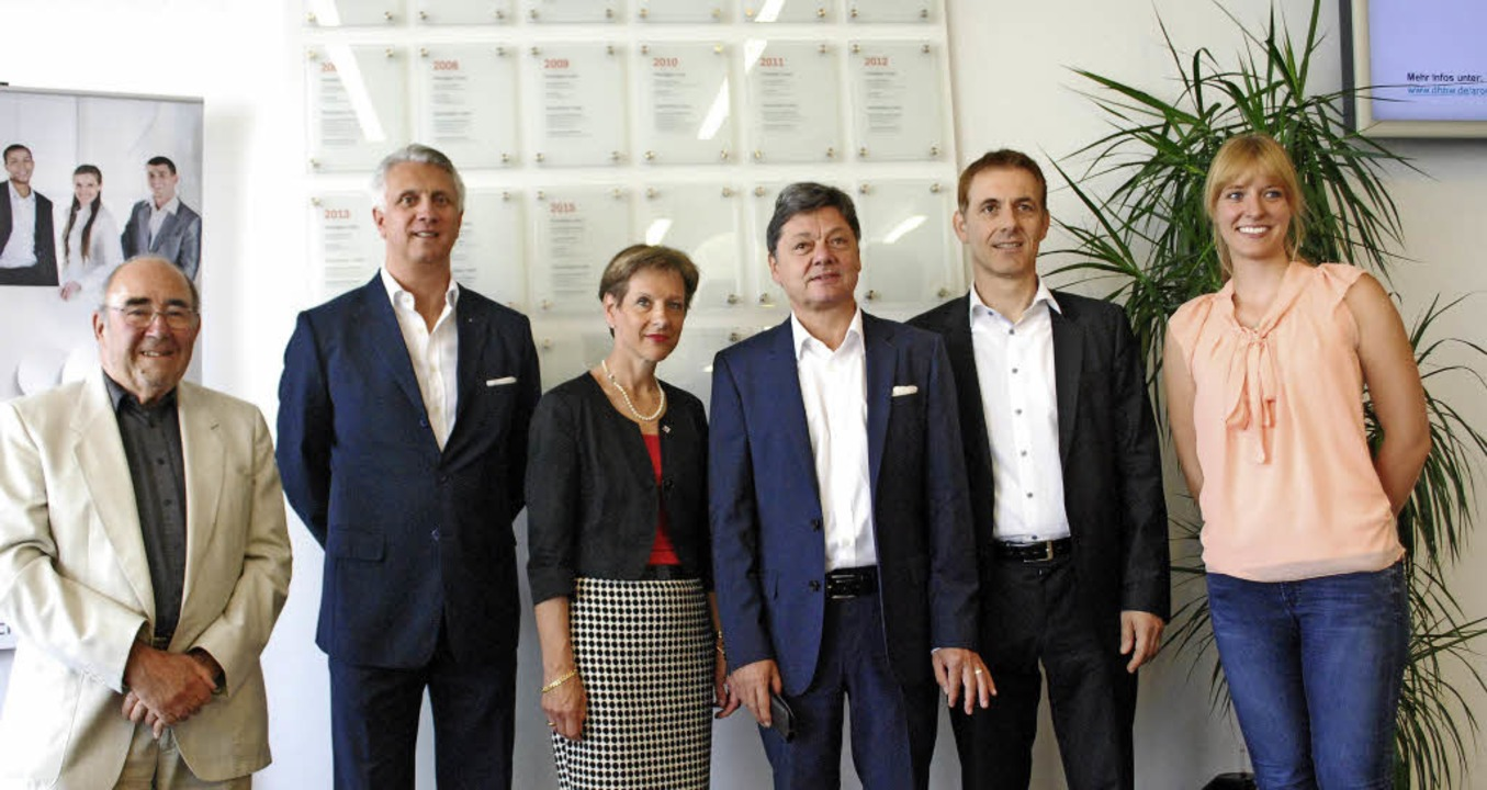 Klaus Wickenhauser, Frank O. Bayer, Ma...endiaten und Preisträger an der DHBW.   | Foto: Thomas Loisl Mink