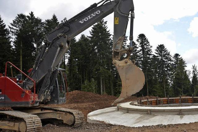 Ein Fundament aus 1750 Tonnen Beton