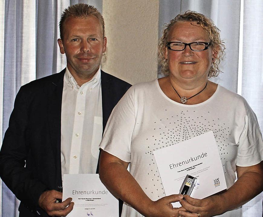 Ausgezeichnet: Harald Wochner, Ilona Schächtele      Foto: Schöneberg