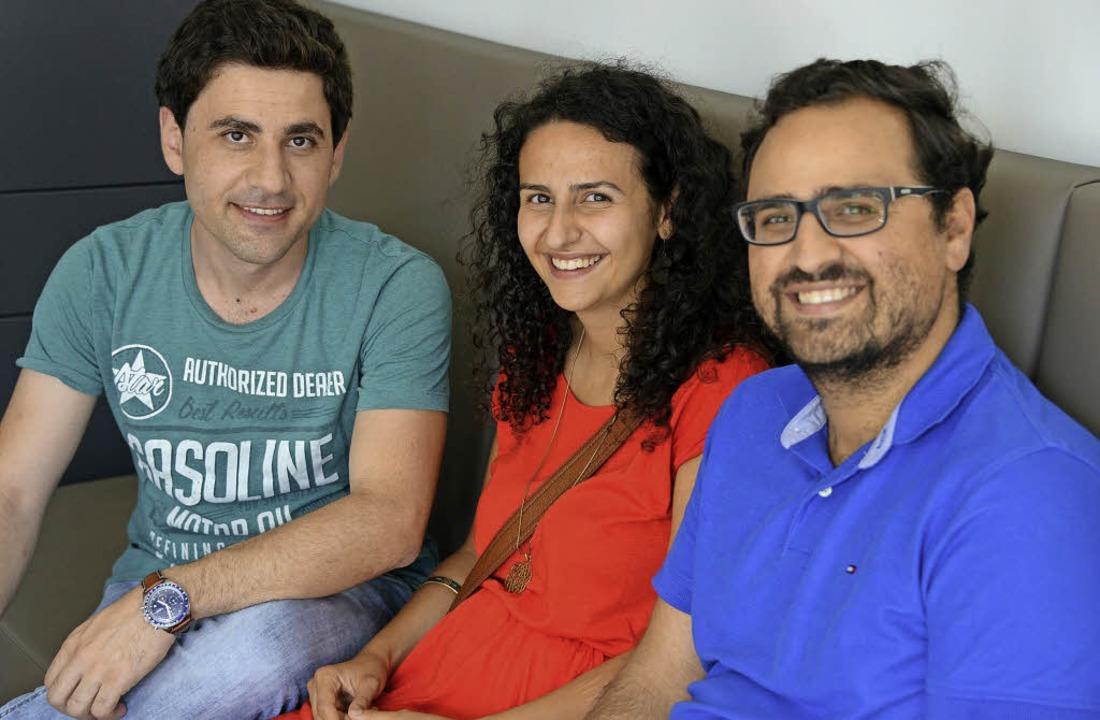 Anas Alzoghbi, Dunja und Firas Khoury (von links).   | Foto: rita eggstein