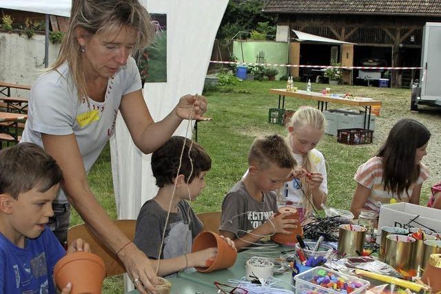 Basteln, malen und eine Radtour durch Vogtsburg