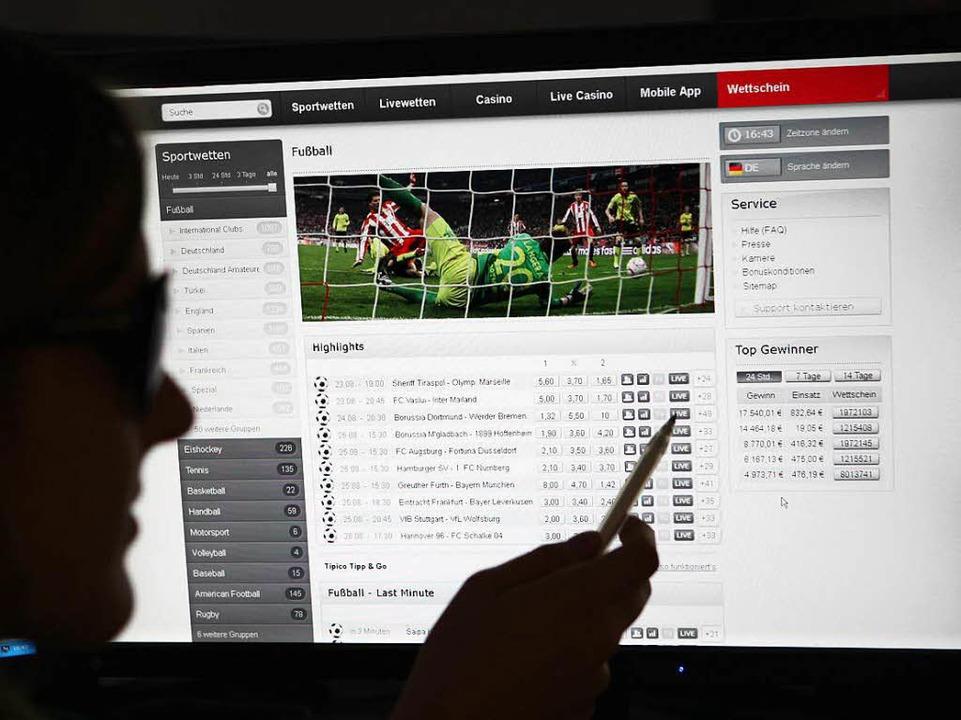 Internetseite für Online-Wetten  | Foto: dpa