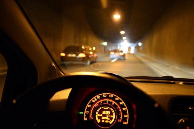 Nachgerechnet: Pro Minute blitzt es im Tunnel einmal