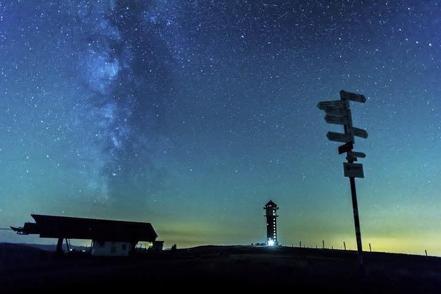 Mit Teleskop und Sekt in Feldberg