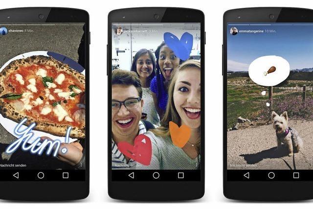 Instagram kupfert bei Snapchat ab
